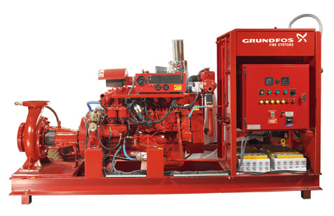 Grundfos fire systems end-suction pump-centro